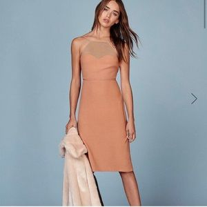 REFORMATION Margot Dress in Buff 0 NWT & Sold Out!